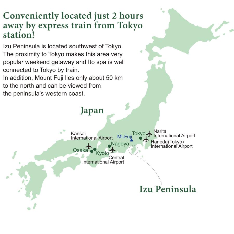 Ito City Shizuoka Japan Ryokan Japanese Inn Seizan Yamato - Japan map airports
